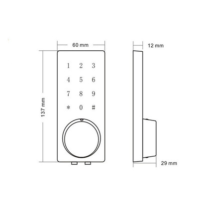Front Door Code Lock Wooden door bluetooth lock